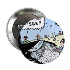 """Save the Whale 2.25"""" Button"""