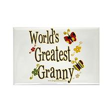 Granny Butterflies Rectangle Magnet