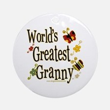 Granny Butterflies Ornament (Round)