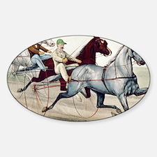 Harness Racing Sticker (Oval)