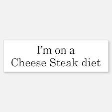 Cheese Steak diet Bumper Bumper Bumper Sticker