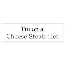 Cheese Steak diet Bumper Bumper Sticker