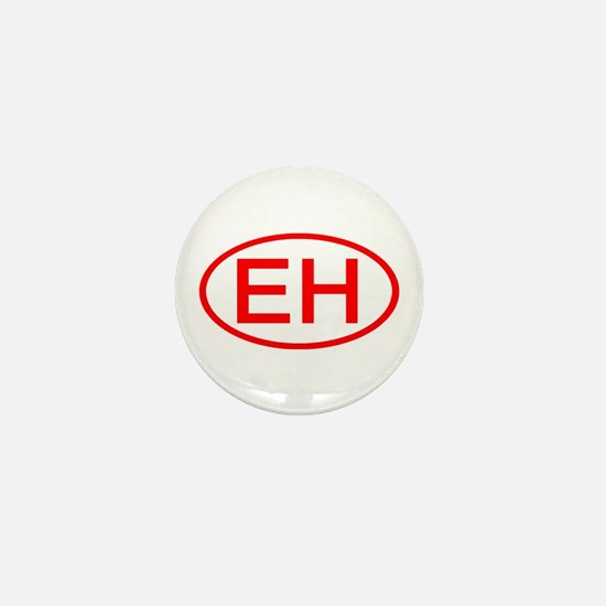 EH Oval (Red) Mini Button