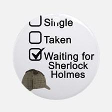 Waiting for Sherlock Round Ornament