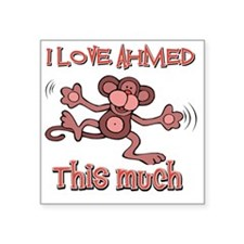 "I love Ahmed Square Sticker 3"" x 3"""