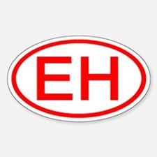 EH Oval (Red) Oval Decal