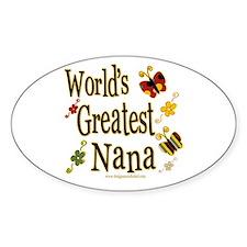 Nana Butterflies Oval Decal