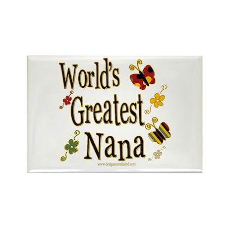 Nana Butterflies Rectangle Magnet