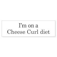 Cheese Curl diet Bumper Bumper Sticker