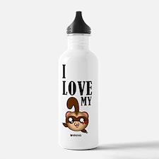 I Love My Ferrets Water Bottle