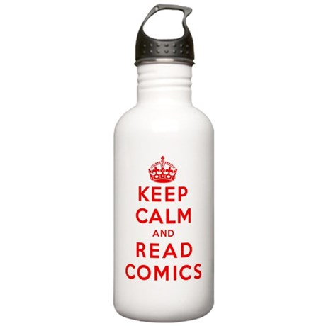 Keep Calm and Read Com Stainless Water Bottle 1.0L