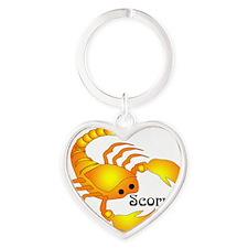 Whimsical Scorpio Heart Keychain