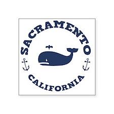 "souv-whale-sacra-LTT Square Sticker 3"" x 3"""