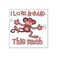 """I love Ahmad Square Sticker 3"""" x 3"""""""