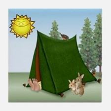 Rise and Shine Camper Tile Coaster