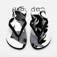 Whimsical Capricorn Flip Flops