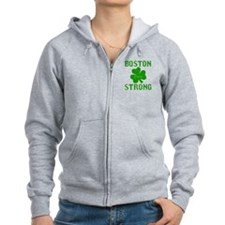 Boston Strong - Green Zip Hoodie