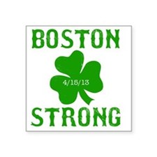 "Boston Strong - Green Square Sticker 3"" x 3"""