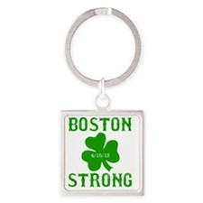 Boston Strong - Green Square Keychain