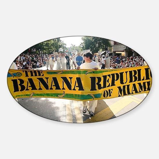 Banana republic Sticker (Oval)