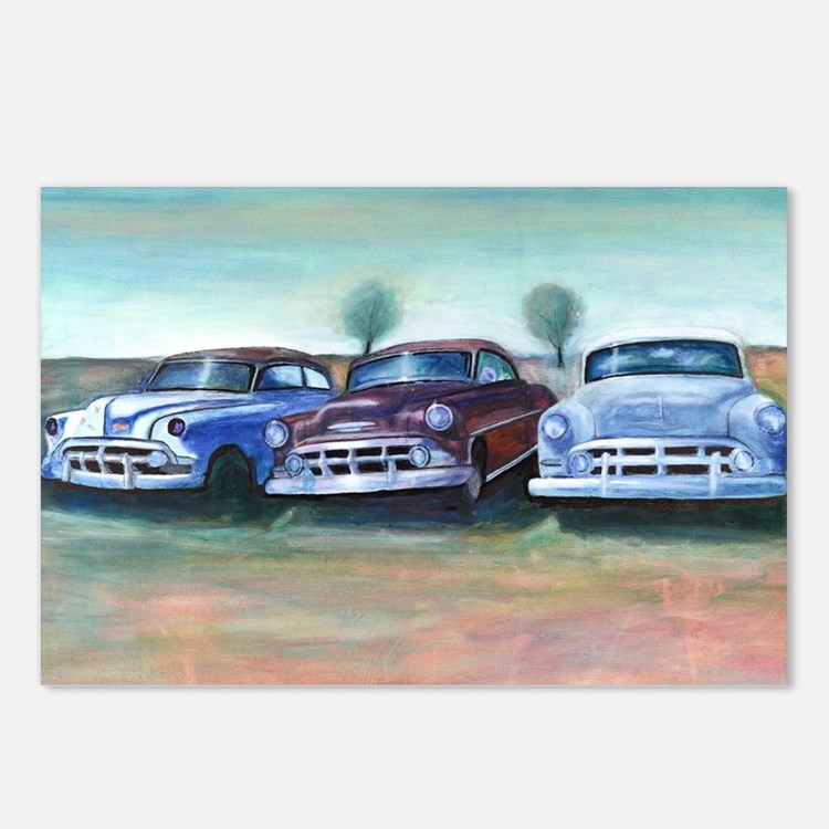 Three old friends Postcards (Package of 8)