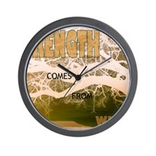 Strength Comes From Within Wall Clock