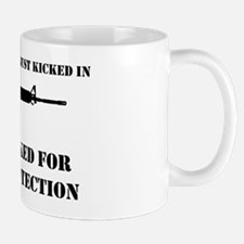 Kicked In Mug