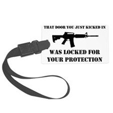 Kicked In Luggage Tag