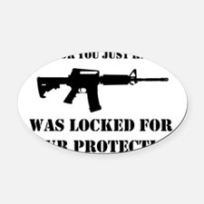 Kicked In Oval Car Magnet