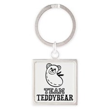 Team Teddybear Square Keychain