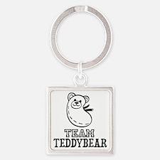 Team Teddybear Square Keychain