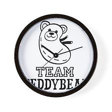 Team Teddybear Wall Clock