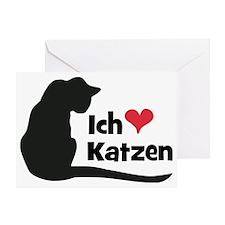 Ich liebe Katzen Greeting Card