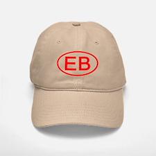 EB Oval (Red) Baseball Baseball Cap