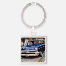 57 Chevrolet Bel Air Square Keychain