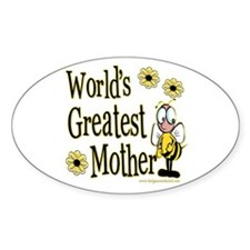 Mother Bumble Bee Oval Decal