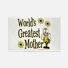 Mother Bumble Bee Rectangle Magnet
