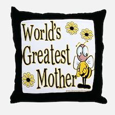 Mother Bumble Bee Throw Pillow