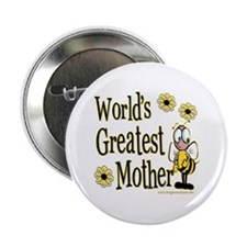 "Mother Bumble Bee 2.25"" Button (100 pack)"
