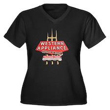vintage west Women's Plus Size Dark V-Neck T-Shirt