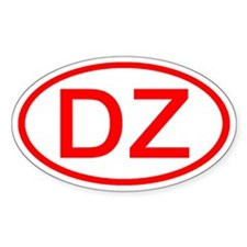 DZ Oval (Red) Oval Decal