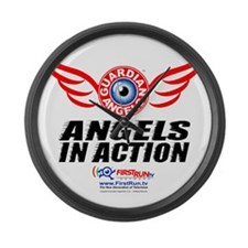 Angels In Action - Color Logo Large Wall Clock