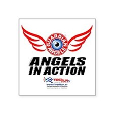 "Angels In Action - Color Lo Square Sticker 3"" x 3"""