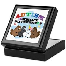 Autism Embrace Differences Keepsake Box