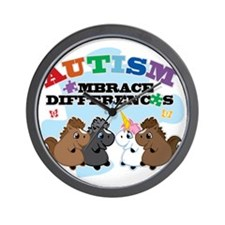 Autism Embrace Differences Wall Clock