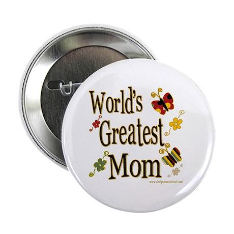 """Mom Butterflies 2.25"""" Button (10 pack)"""