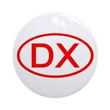 DX Oval (Red) Ornament (Round)