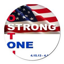 Boston Strong - One Round Car Magnet