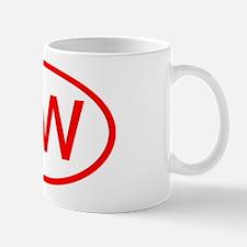 DW Oval (Red) Mug