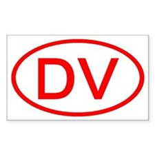 DV Oval (Red) Rectangle Decal